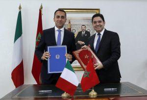 وزير الخارجية المغربي ناصر بوريطة و نظيره الإيطالي لويجي ديمامو